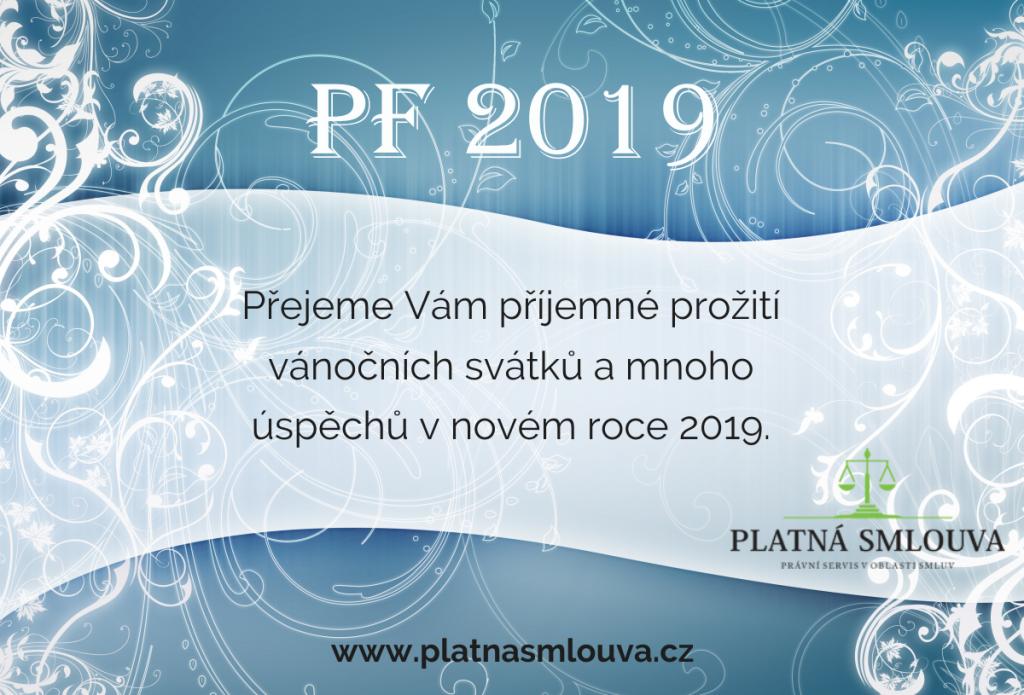 pf2019 platná smlouva